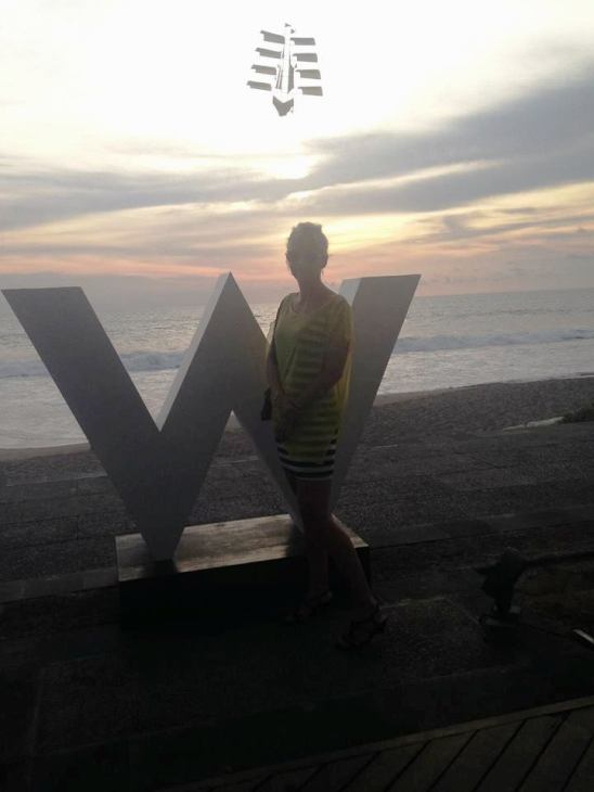 Bali sunset at the W