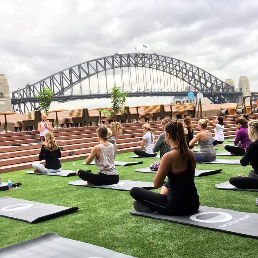 Yoga & Breakfast at Opera Bar - image courtesy of Opera Bar FB