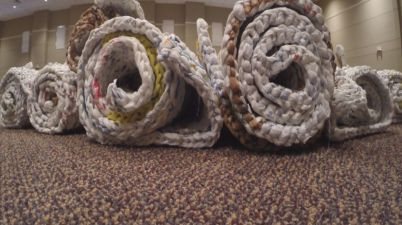 Image - http://www.wpsdlocal6.com/story/33059644/i-am-local-6-bag-ladies-make-plastic-bags-into-beds-for-homeless