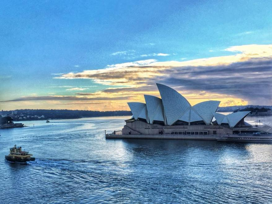 Sydney Opera House at Sunrise - from the Carnival Spirit Cruise Ship - by Wendy Norman