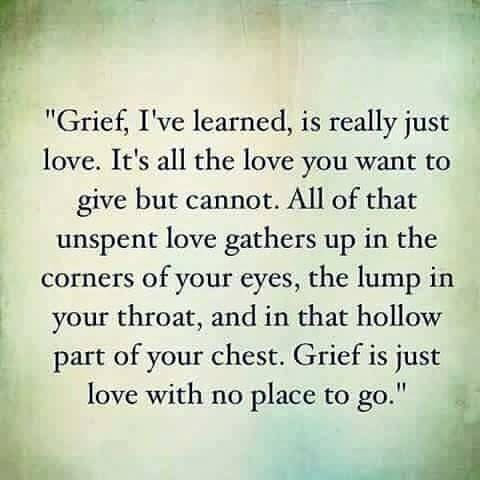 Grief is just Love quote of the day