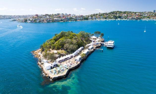 Wine Island - Clark Island in Sydney Harbour