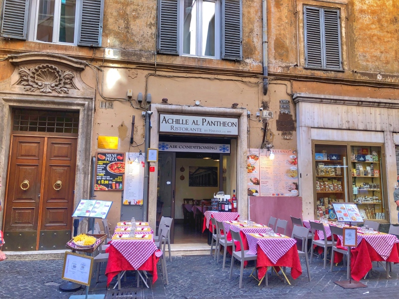 A Pizzeria Cafe in Rome, Italy