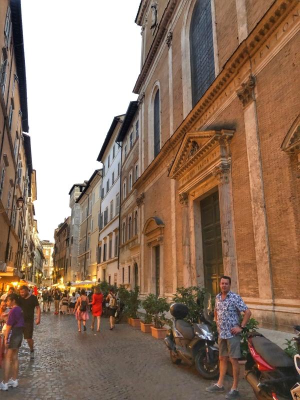 laneways behind Piazza Navona- Rome