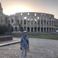 Standing outside the Colosseum in Rome at 7am